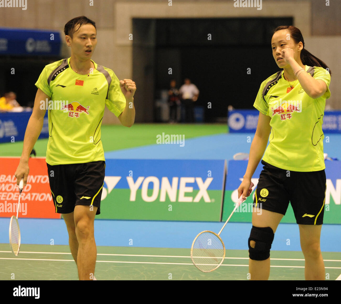 Tokyo Japan 15th June 2014 Zhang Nan L and Zhao Yunlei of