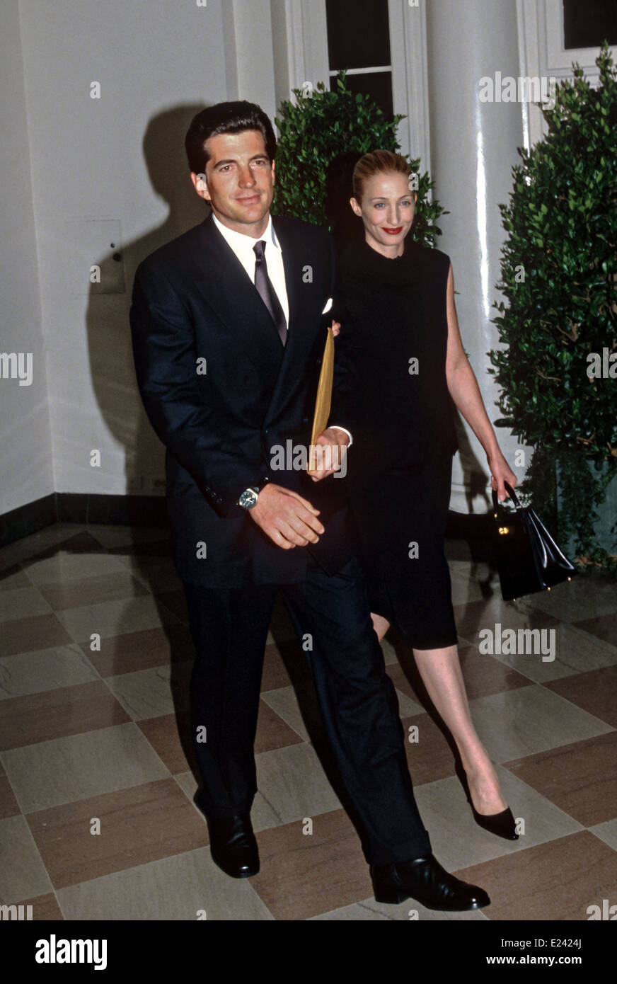 John Kennedy Jr And Wife Carolyn Bessette Kennedy Arrive For The Stock Photo Royalty Free