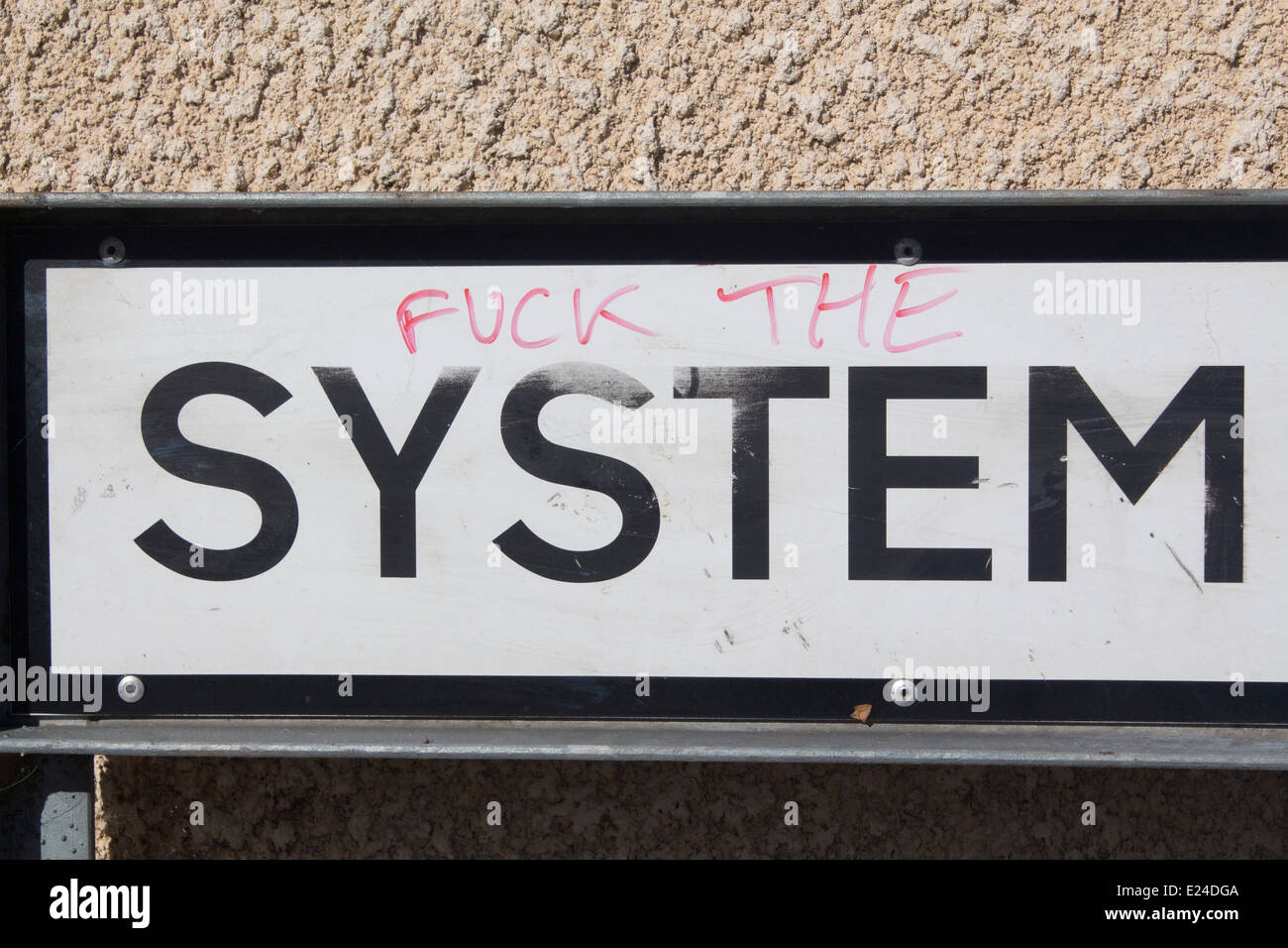 Fuck The System Graffiti 92