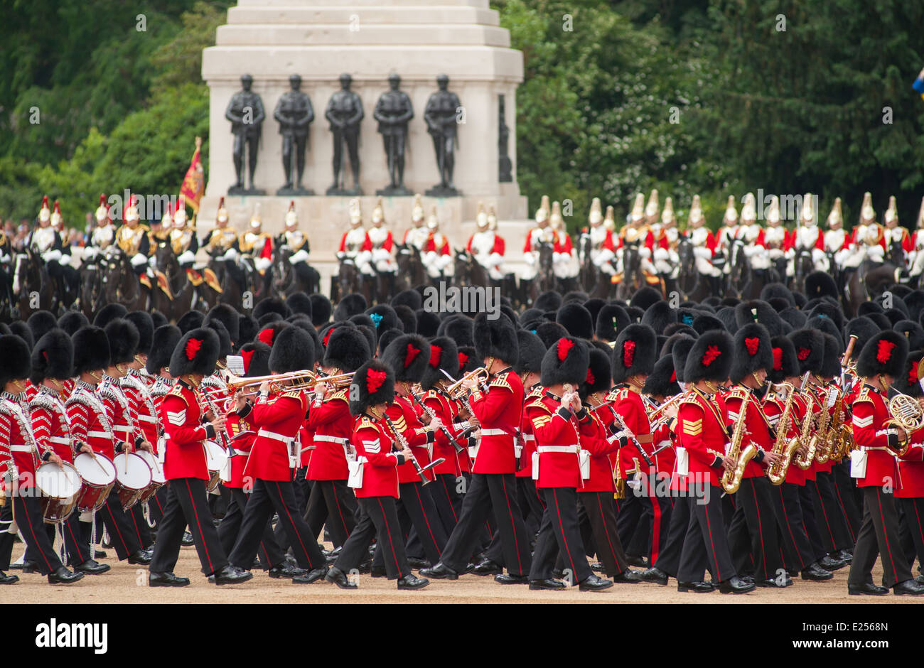 The Queen's Birthday Parade, Trooping the Colour Stock ...