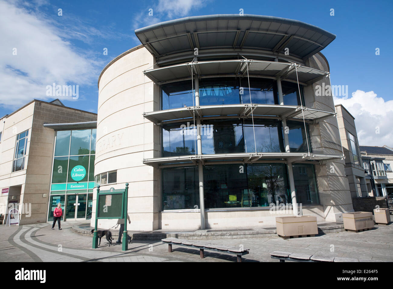 Modern Architecture Of New Public Library Calne Wiltshire
