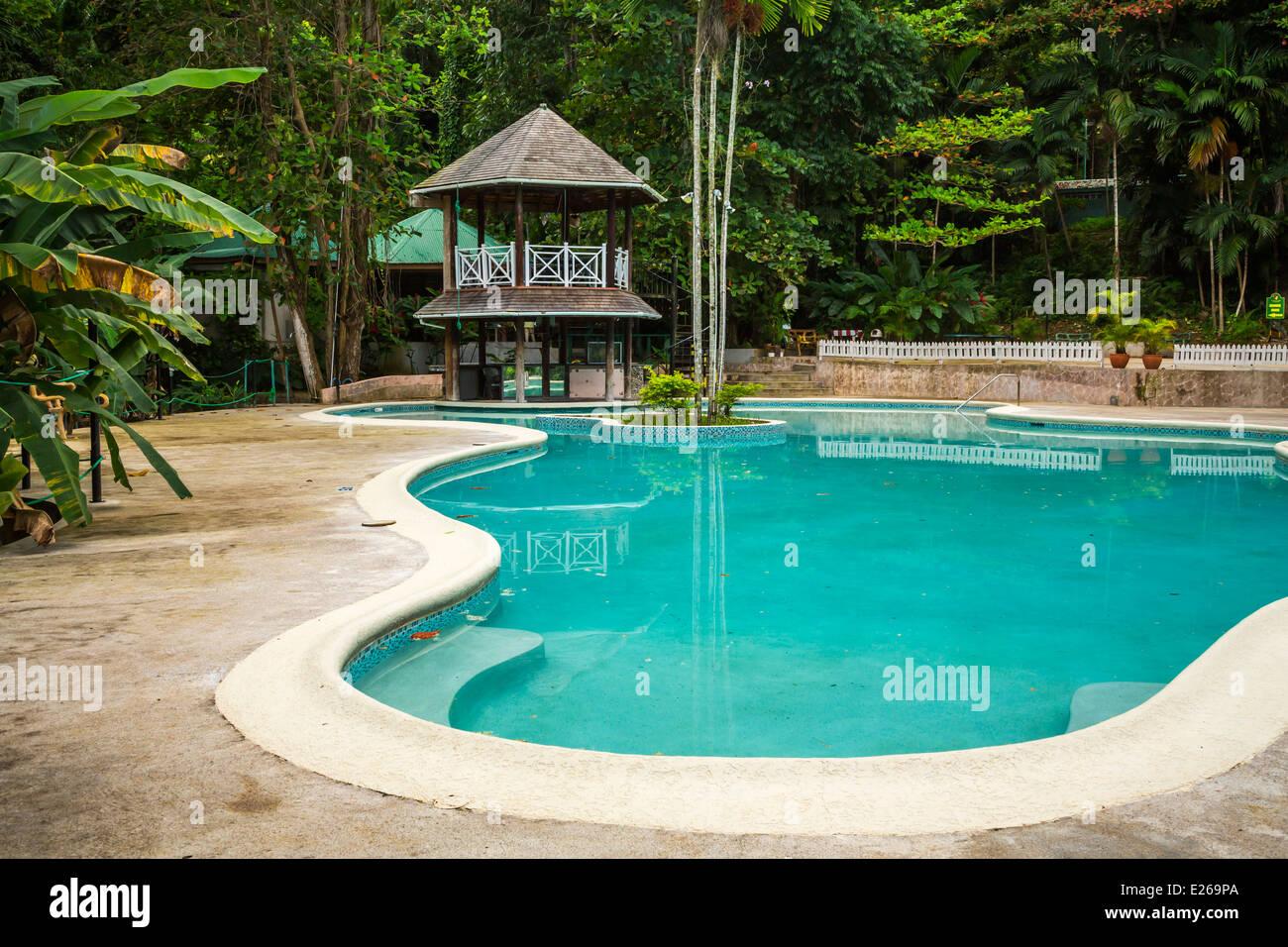 The Swimming Pool At The Turtle River Falls Near Ocho Rios