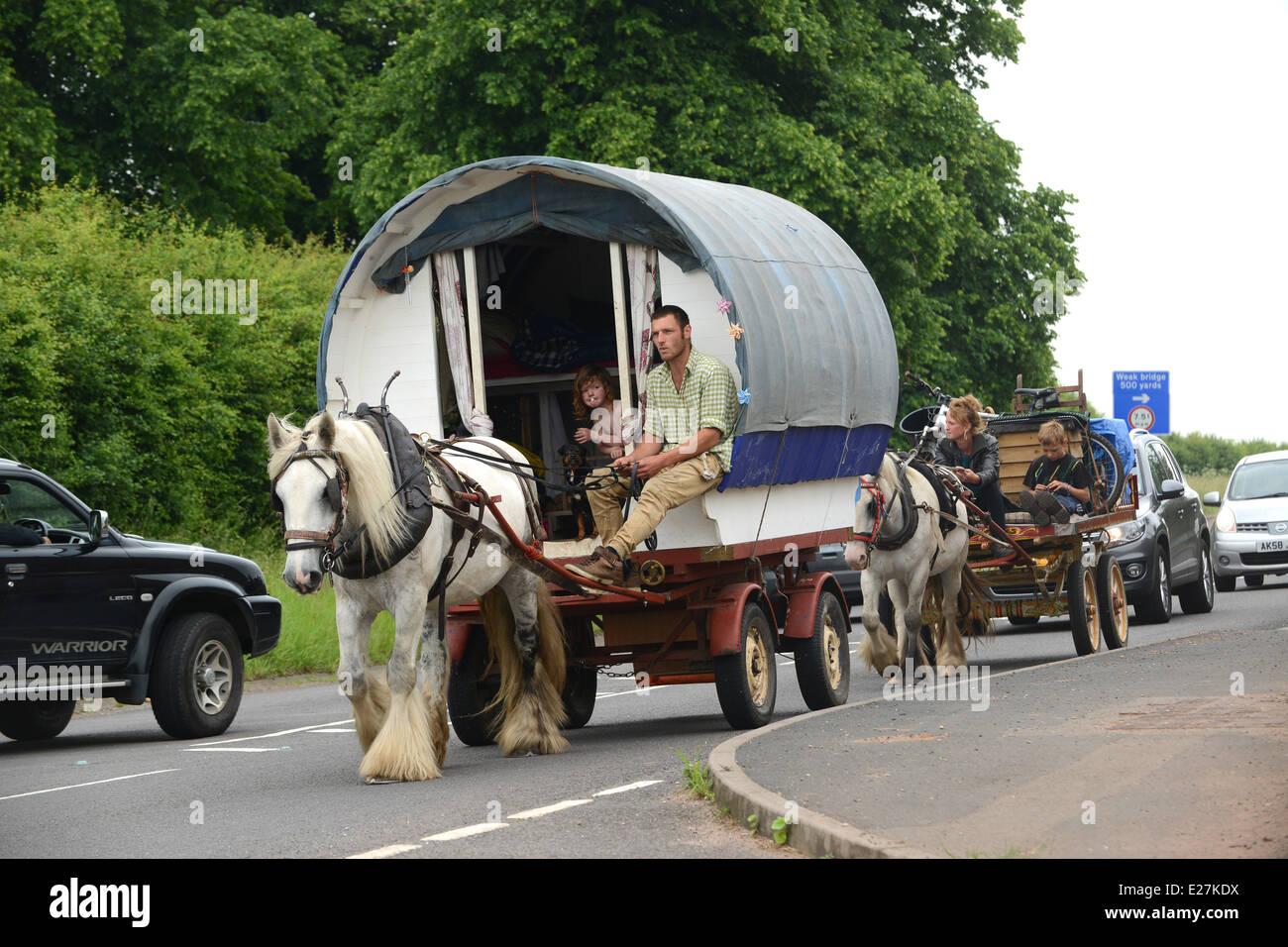 Creative Holiday Ireland In A Horse Drawn Caravan