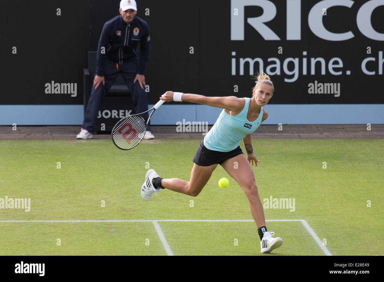 Polona hercog slo in action at the wta topshelf open tennis championships at autotron