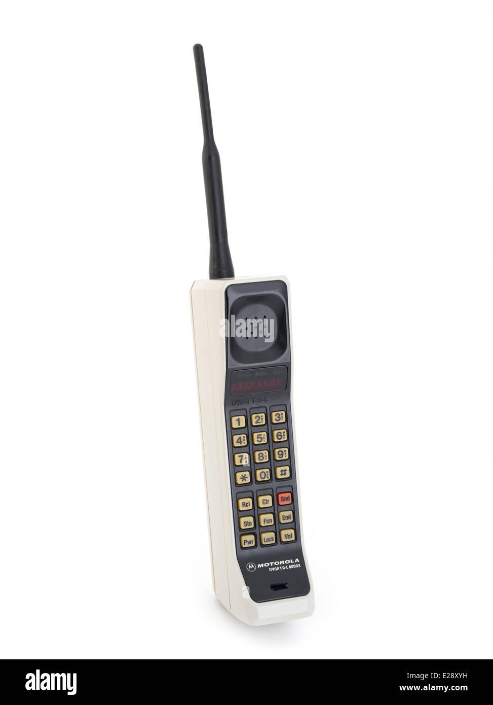 motorola 8000x. stock photo - vintage motorola dynatac 8000x produced in 1984 first mobile cellular phone