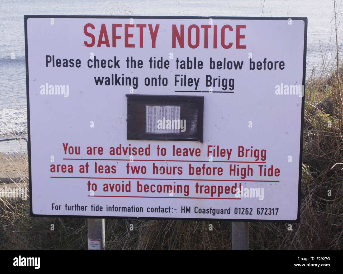 Tide table stock photos tide table stock images alamy safety notice please check the tide table below before walking onto filey brigg nvjuhfo Choice Image