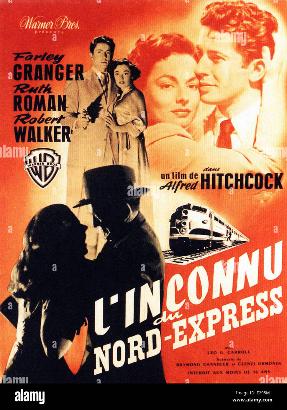 the classic cinema in the movie strangers on a train Still in the opening scenes, obsequious bruno (robert walker) introduces his diabolical idea to guy (farley granger), in alfred hitchcock's strangers on a train , 1951, from the novel by patricia highsmith.