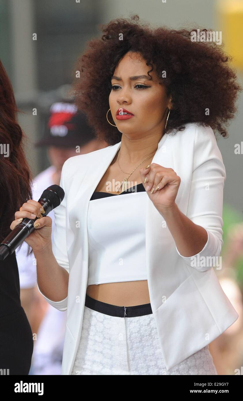 new york ny usa 17th june 2014 little mix leigh anne
