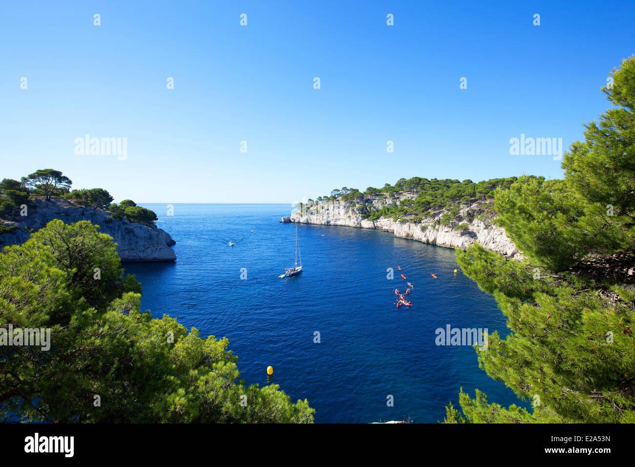 France bouches du rhone cassis calanque de port miou for Bouches rhone