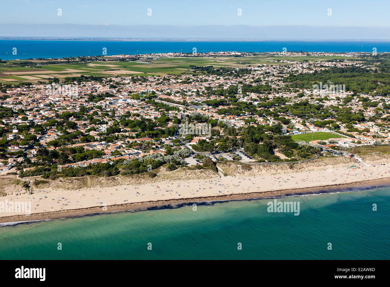 France, Charente Maritime, Ile de Re, Le Bois Plage, Gollandieres Stock Photo, Royalty Free  # Location Mobil Home Ile De Ré Bois Plage