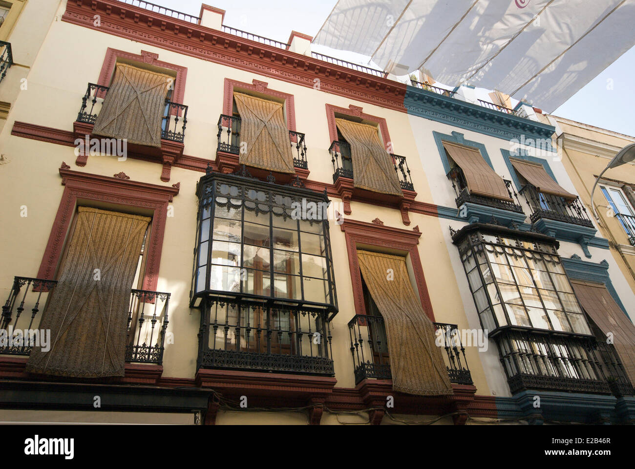 Spain Andalucia Seville Wrought Iron Balconies And Awnings Alfa
