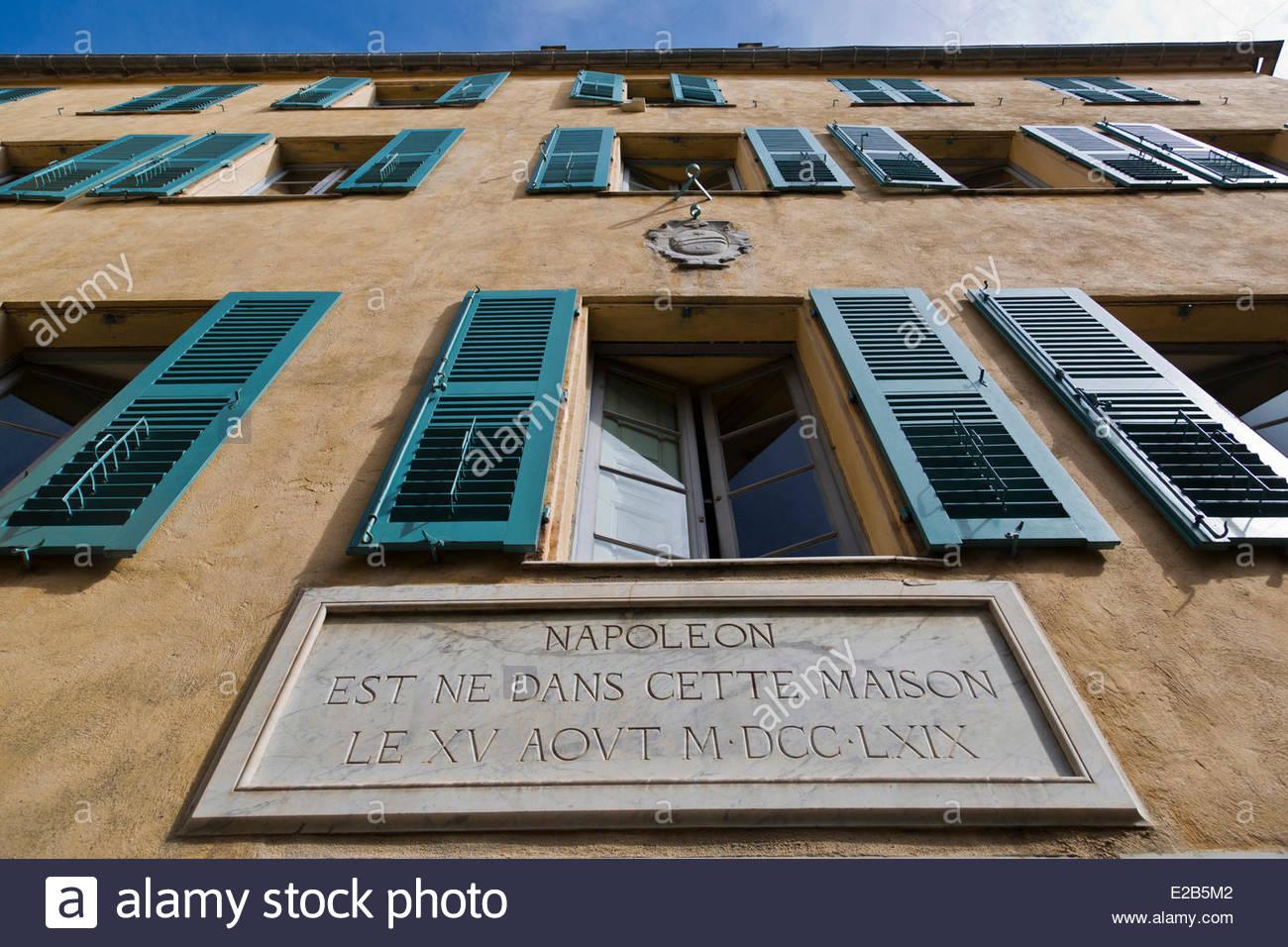 France corse du sud ajaccio bonaparte house museum in for Achat maison corse du sud