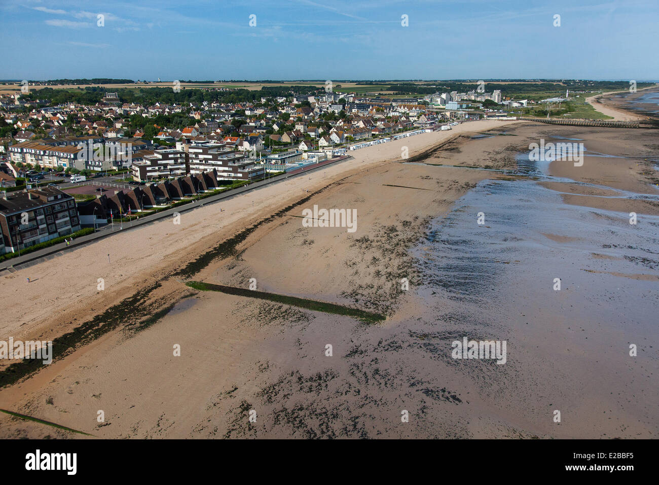 france calvados courseulles sur mer juno beach aerial view stock photo royalty free image. Black Bedroom Furniture Sets. Home Design Ideas