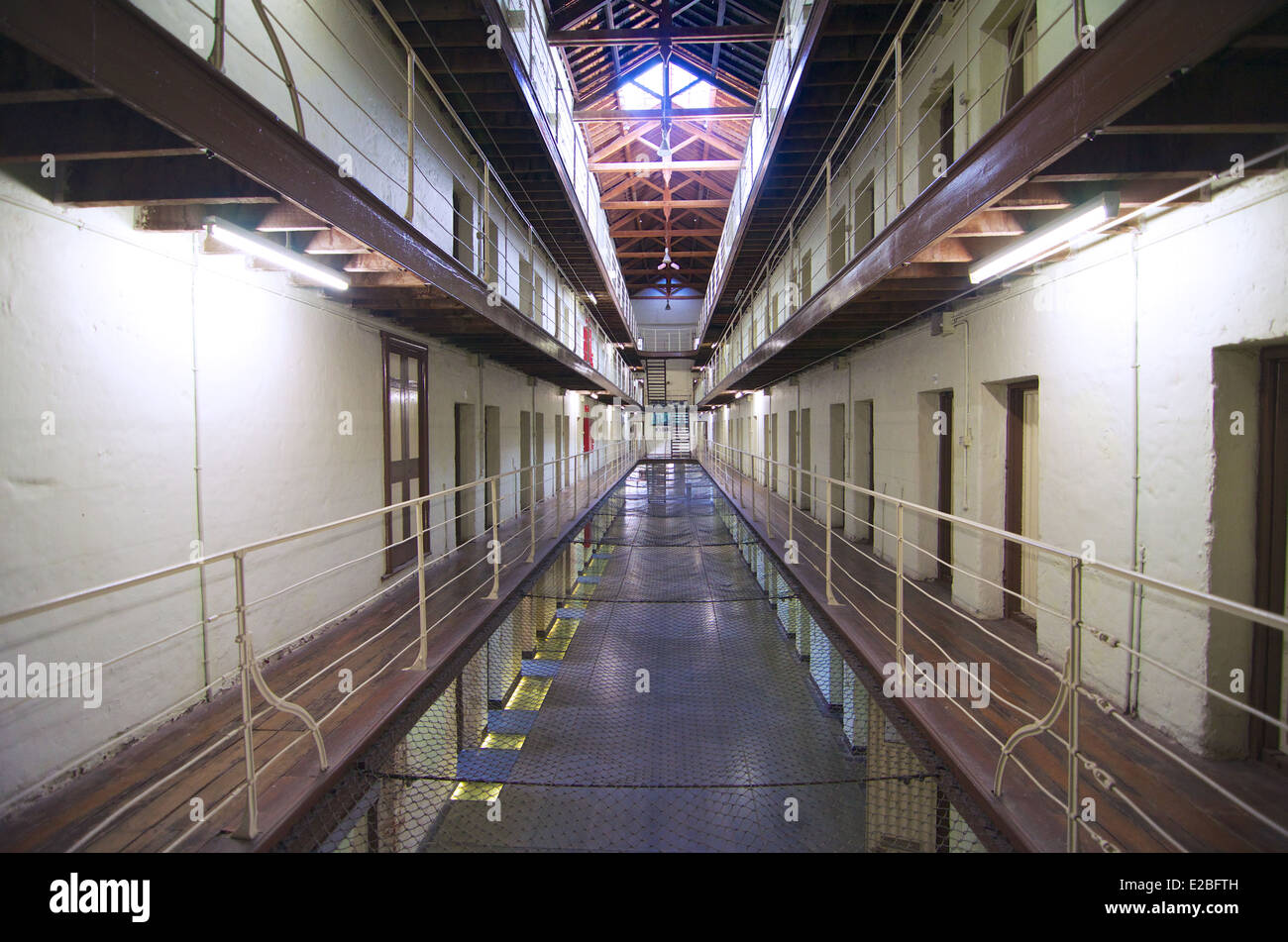 Cell doors and landings at the old Fremantle Prison in Western Australia & Cell doors and landings at the old Fremantle Prison in Western ...