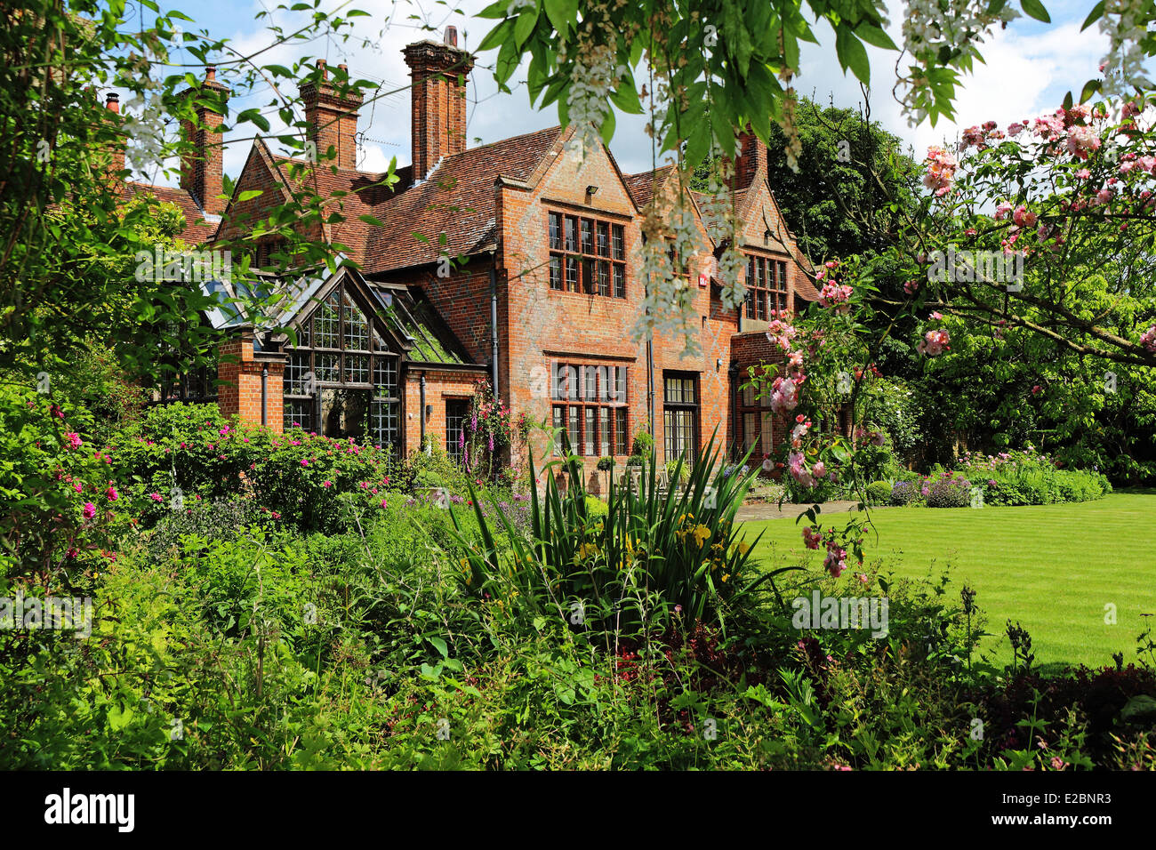 english rural manor house and garden stock photo  royalty manor house gardens wd5 0dh manor house gardens wd5 0dh