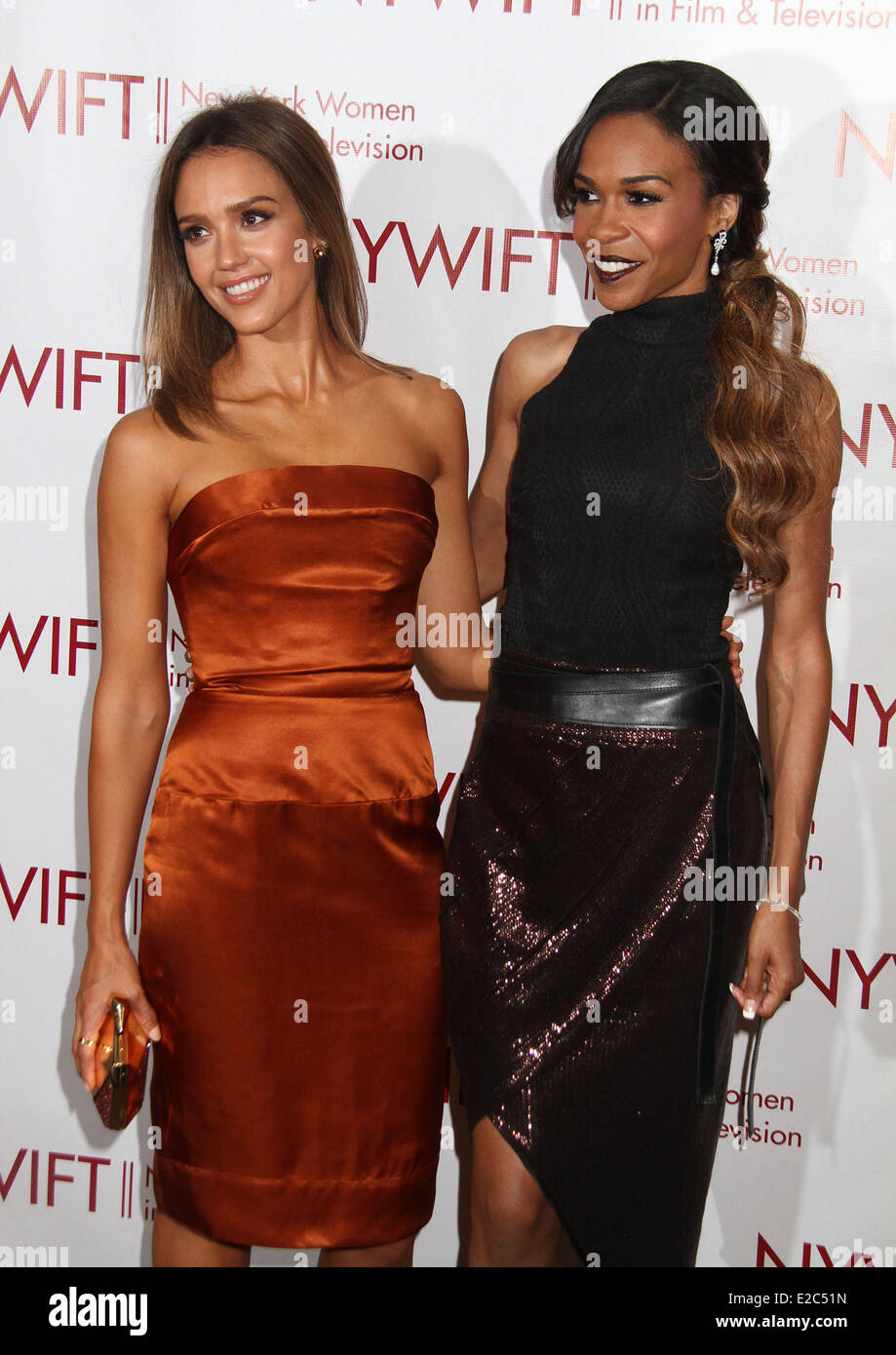 At the fitbit ipo celebration at new york stock exchange on thursday - New York New York Usa 18th June 2014 Actress Jessica Alba And Singer Michelle Williams Attend 2014 New York In Film And Television Gala Held At The