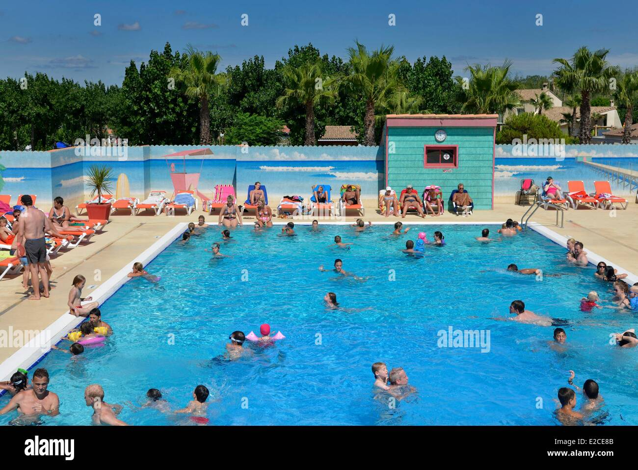 France herault serignan camping village aloha outside for France pools