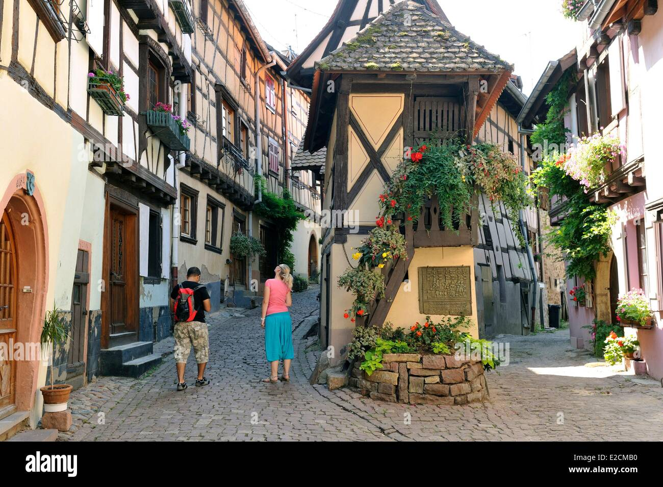 france haut rhin alsace wine route eguisheim labelled les plus stock photo royalty free. Black Bedroom Furniture Sets. Home Design Ideas
