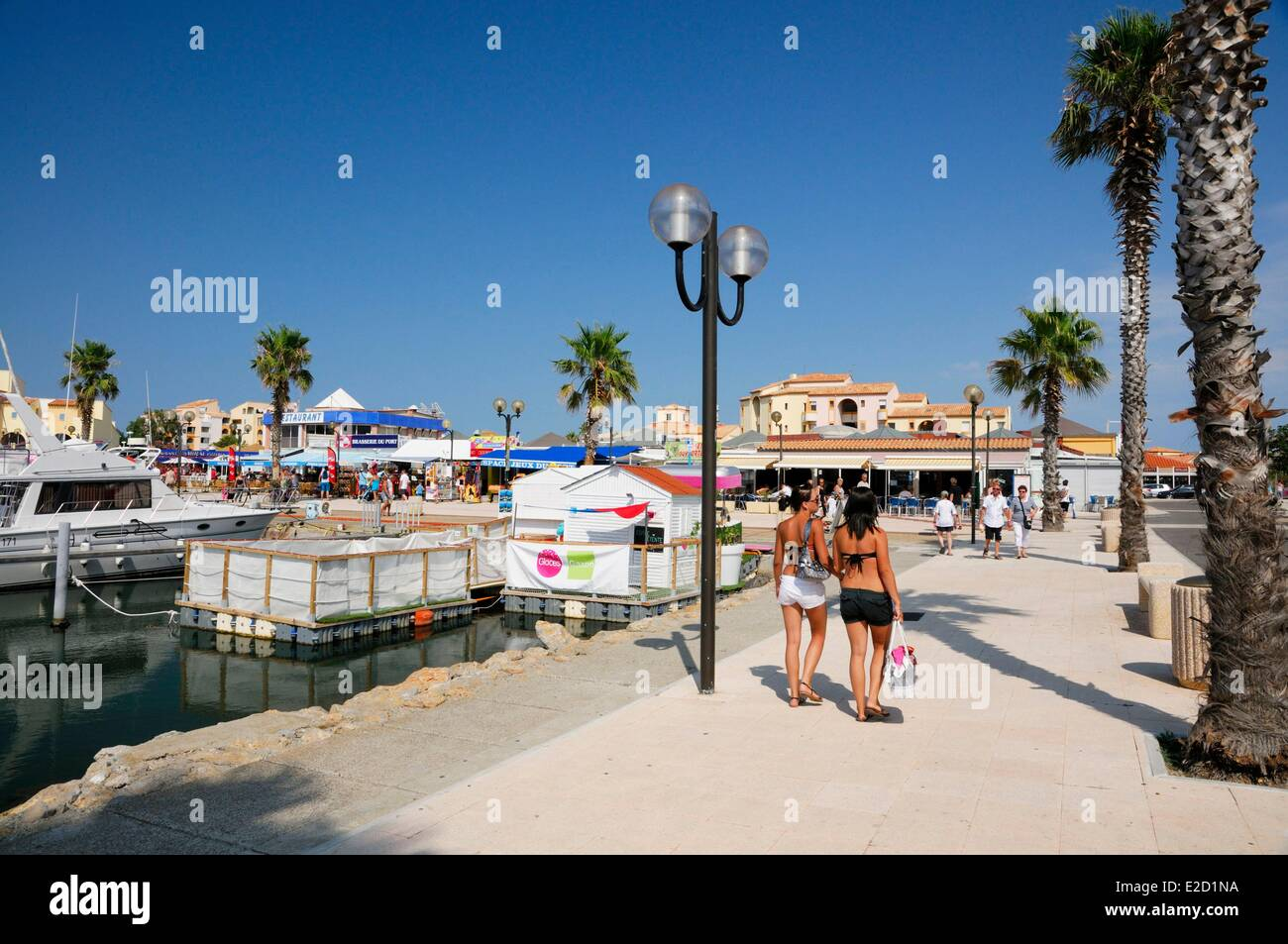 France Aude Corbieres Port Leucate the Marina Stock Photo, Royalty ...