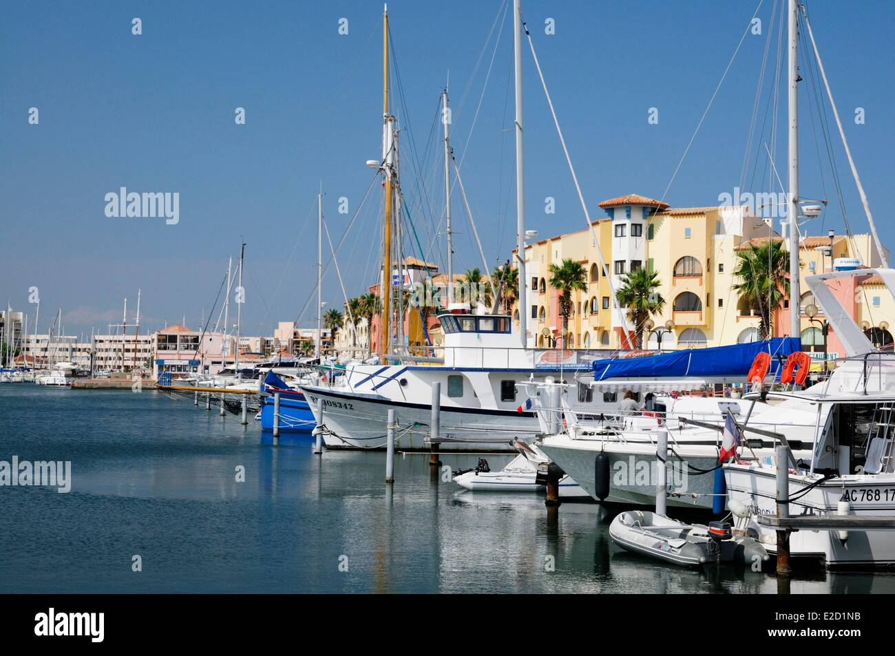 France Aude Corbieres Port Leucate the Marina Stock Photo: 70357543 ...