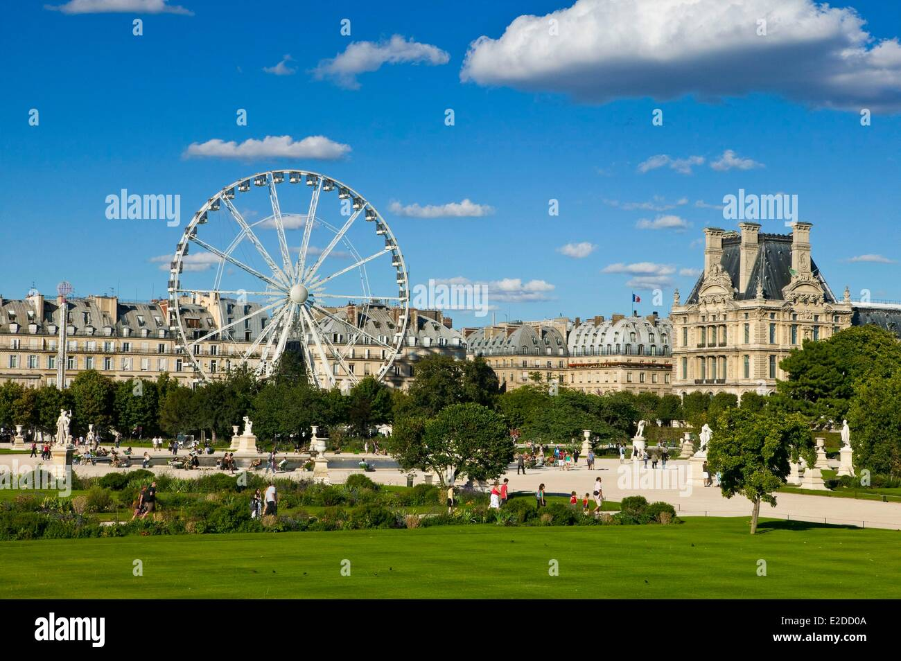 france paris the jardin des tuileries and the ferris wheel stock photo royalty free image. Black Bedroom Furniture Sets. Home Design Ideas