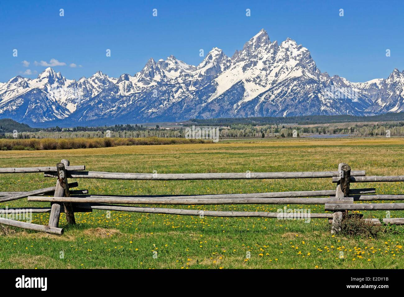 United States Wyoming Grand Teton National Park Teton Mountain - Mountain ranges of united states