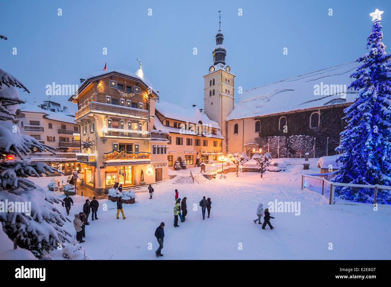 france haute savoie megeve the city center and the maison allard stock photo 70384856 alamy. Black Bedroom Furniture Sets. Home Design Ideas
