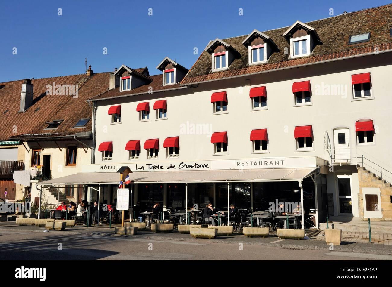 france, doubs, ornans, la table de gustave hotel stock photo