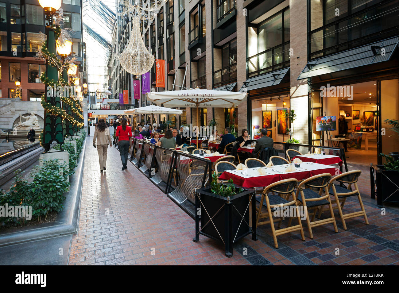 Canada Quebec Province Montreal The Underground City The Ruelle Des Stock Photo Royalty Free