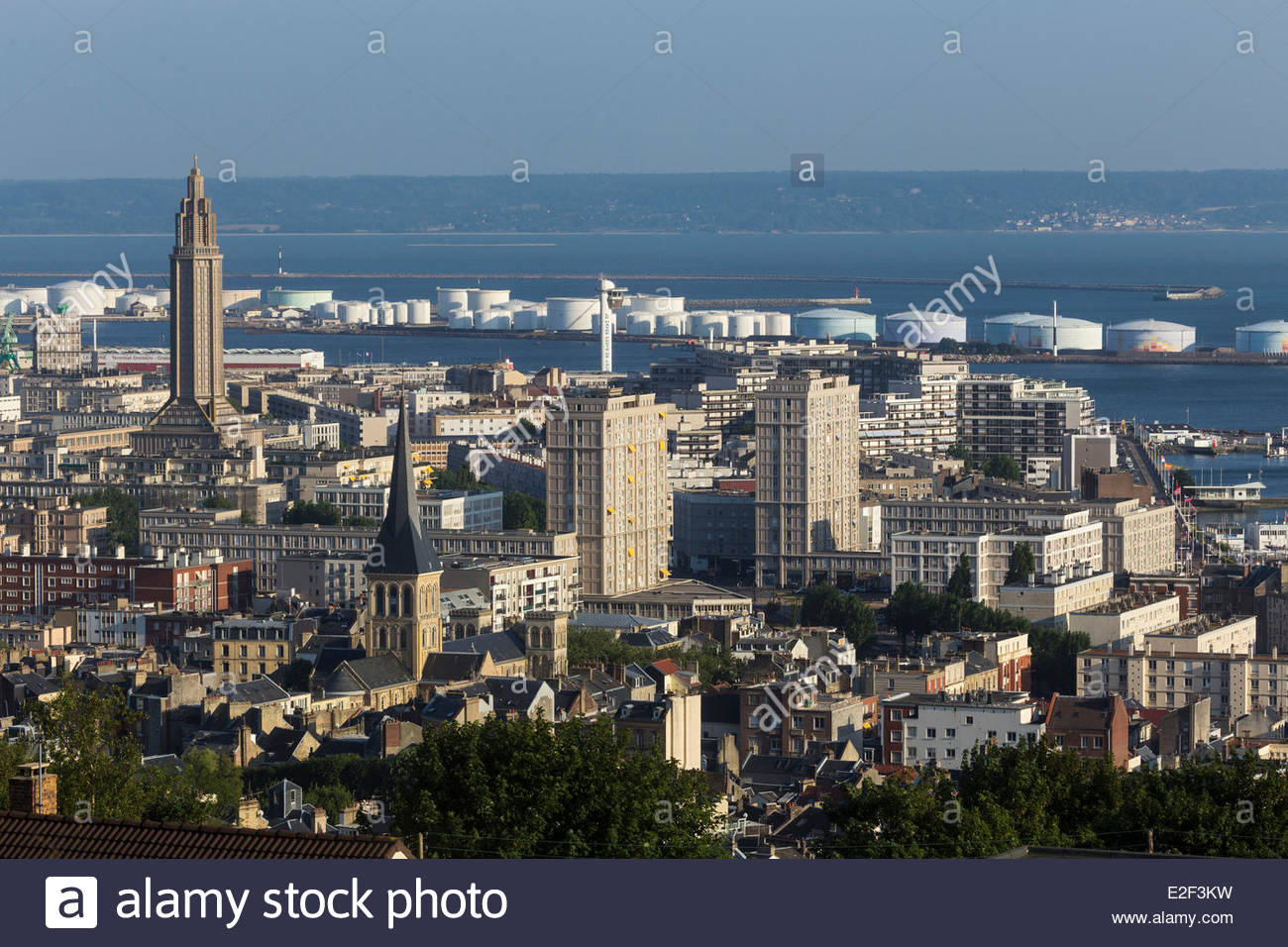 france seine maritime le havre downtown rebuilt by auguste perret stock photo royalty free. Black Bedroom Furniture Sets. Home Design Ideas