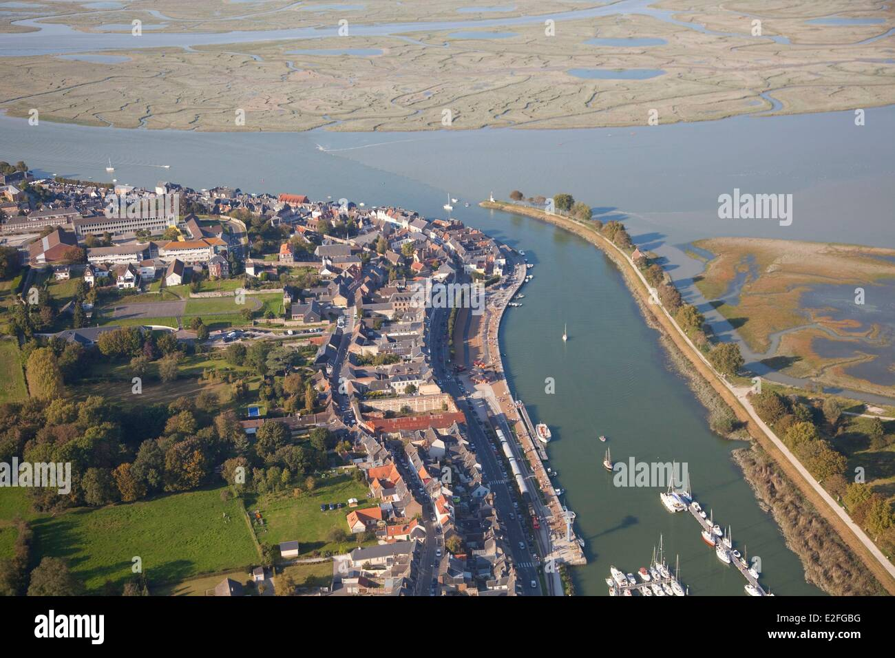 France somme baie de somme saint valery sur somme marina aerial stock photo royalty free - Chambre saint valery sur somme ...