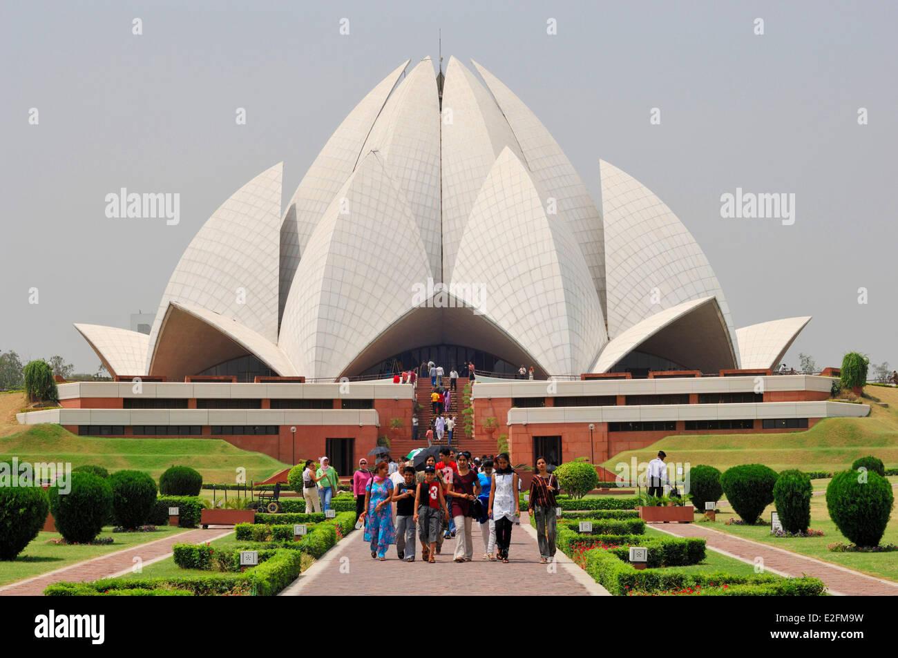 India New Delhi Lotus Temple Or Baha I House Of Worship