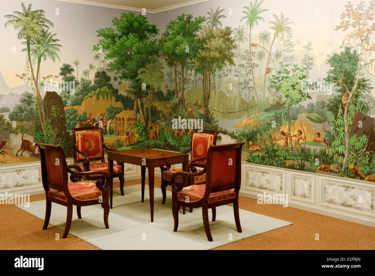 france haut rhin mulhouse rixheim museum of the wallpaper jean zuber stock photo royalty free. Black Bedroom Furniture Sets. Home Design Ideas
