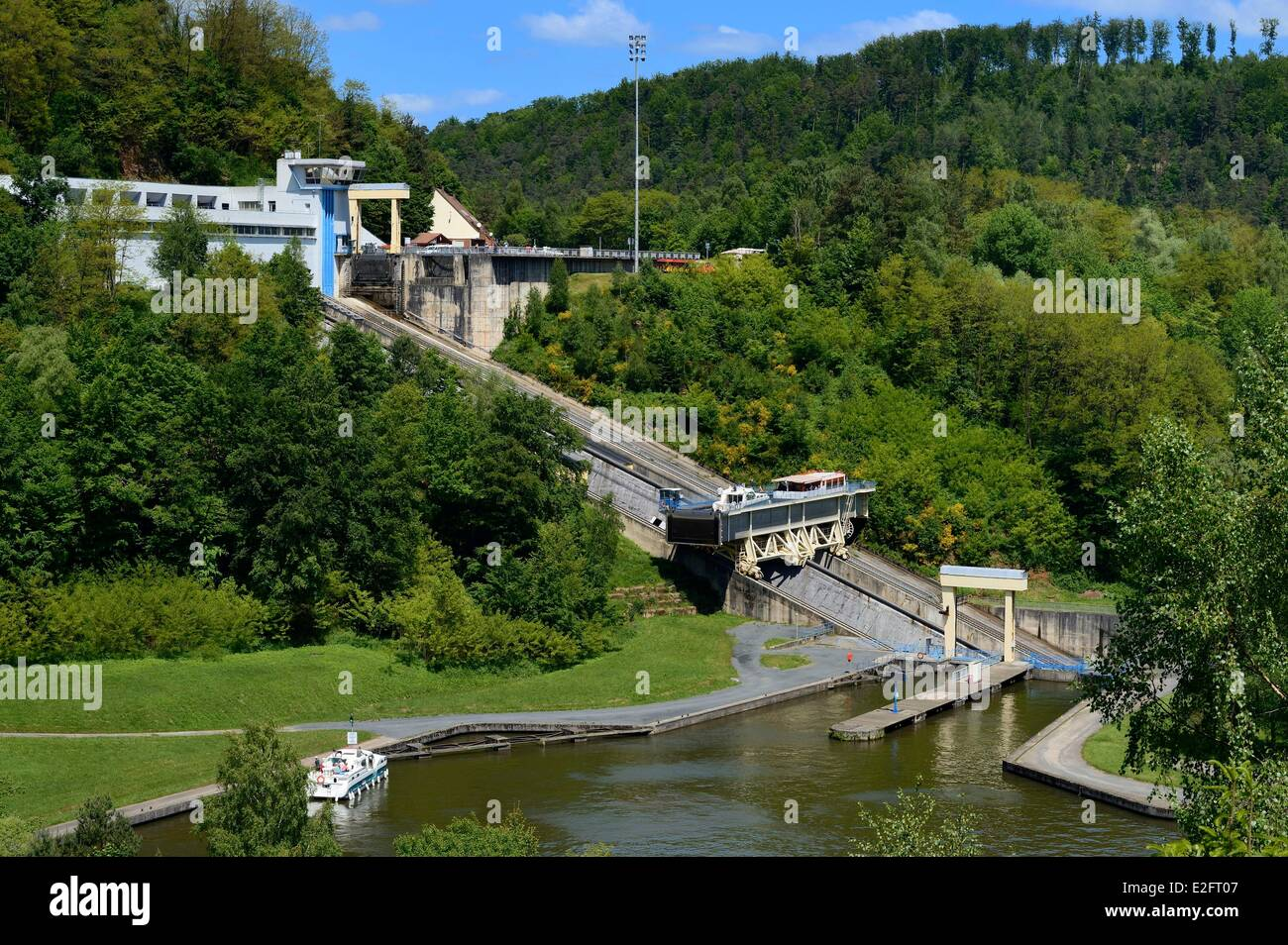France moselle the saint louis arzviller inclined plane is - Plan incline de saint louis arzviller ...