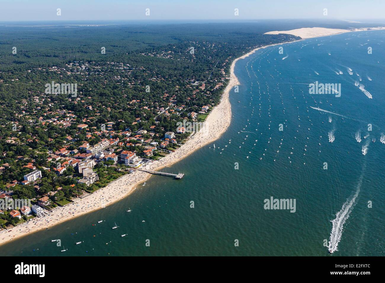 gironde la teste de buch the the seaside resort and the stock photo royalty free