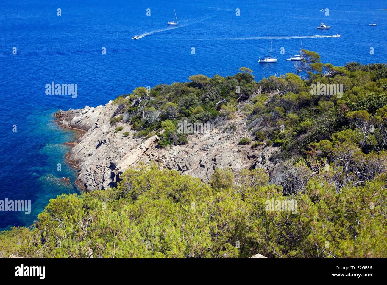 France Var Hyeres Islands National Park Of Port Cros Island Of Port - Location port cros