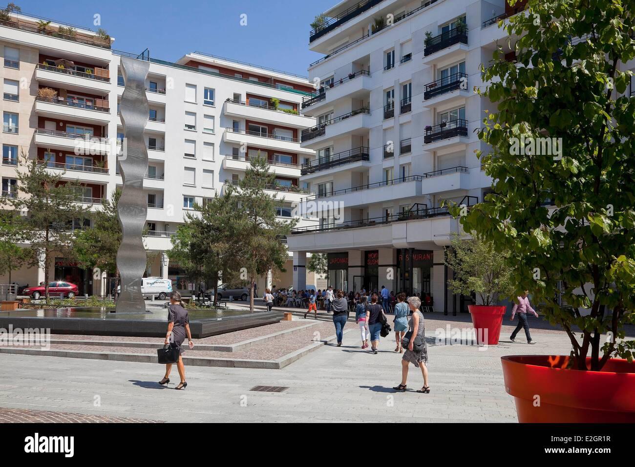 France Hauts de Seine Bois Colombes Place de la Renaissance - Stock Image