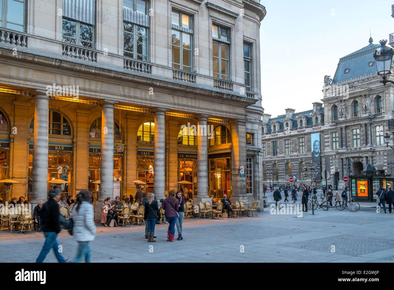 france paris rue saint honore le nemours cafe stock photo. Black Bedroom Furniture Sets. Home Design Ideas