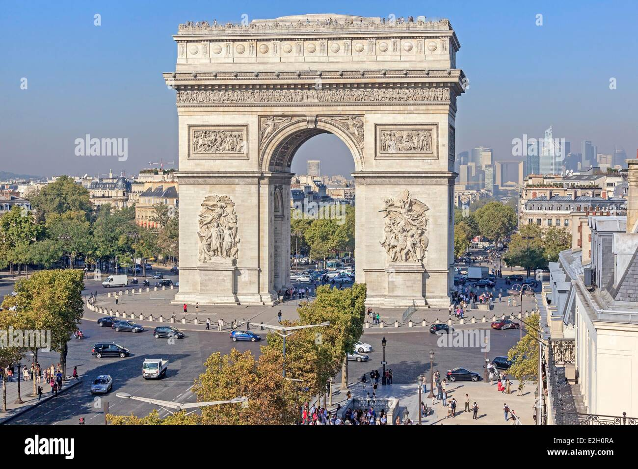 France Paris Arc De Triomphe See Top End Of Champs Elysees