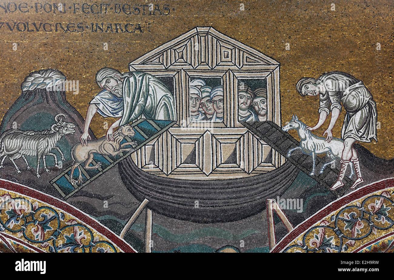 noah u0027s ark is loaded with animals biblical scene byzantine gold