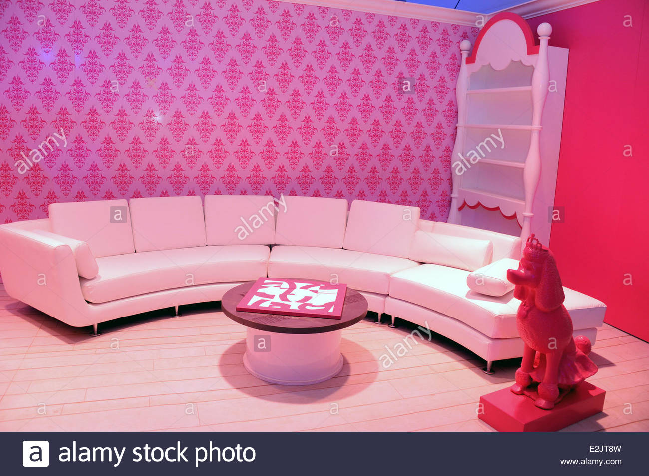 Living room at a guided tour at barbie the dreamhouse experience in mitte where berlin germany when 12 apr 2013