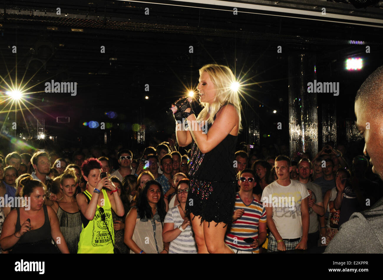cascada performing live at riu palace mallorca where playa de stock photo royalty free image. Black Bedroom Furniture Sets. Home Design Ideas