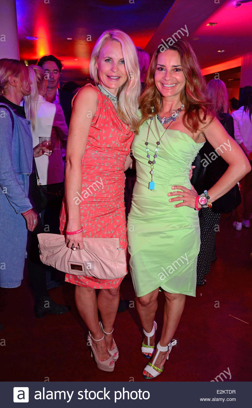 Sonja Kiefer and Gitta Saxx at warmup party by Interview magazine and  Belvedere vodka during Mercedes-Benz Fashion Week Spring Summer 2014 at Q!  Hotel.