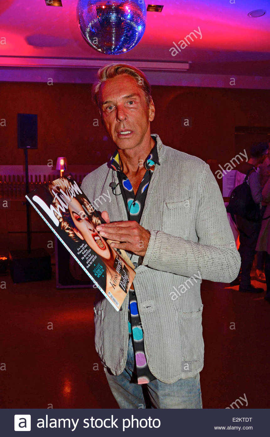Wolfgang Joop at warmup party by Interview magazine and Belvedere vodka  during Mercedes-Benz Fashion Week Spring Summer 2014 at Q! Hotel.