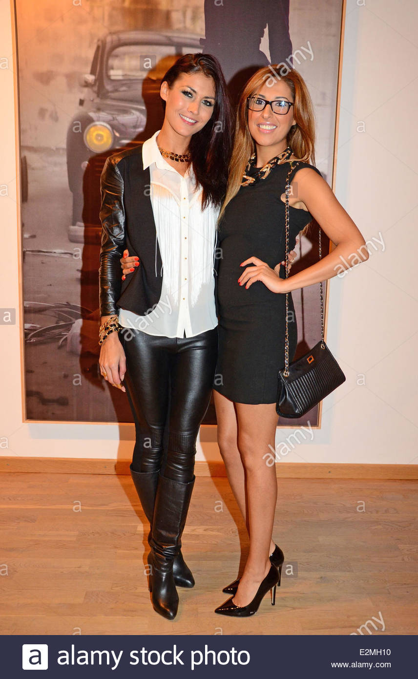Fiona erdmann senna guemmour at the vernissage sandra at gallery son where
