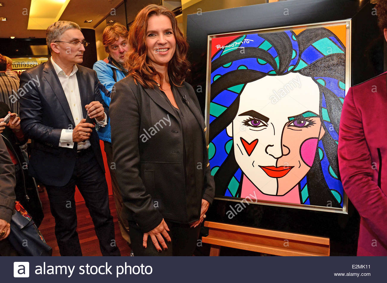 Mensing Galerie katarina witt pictured by romero britto and the artist at galerie