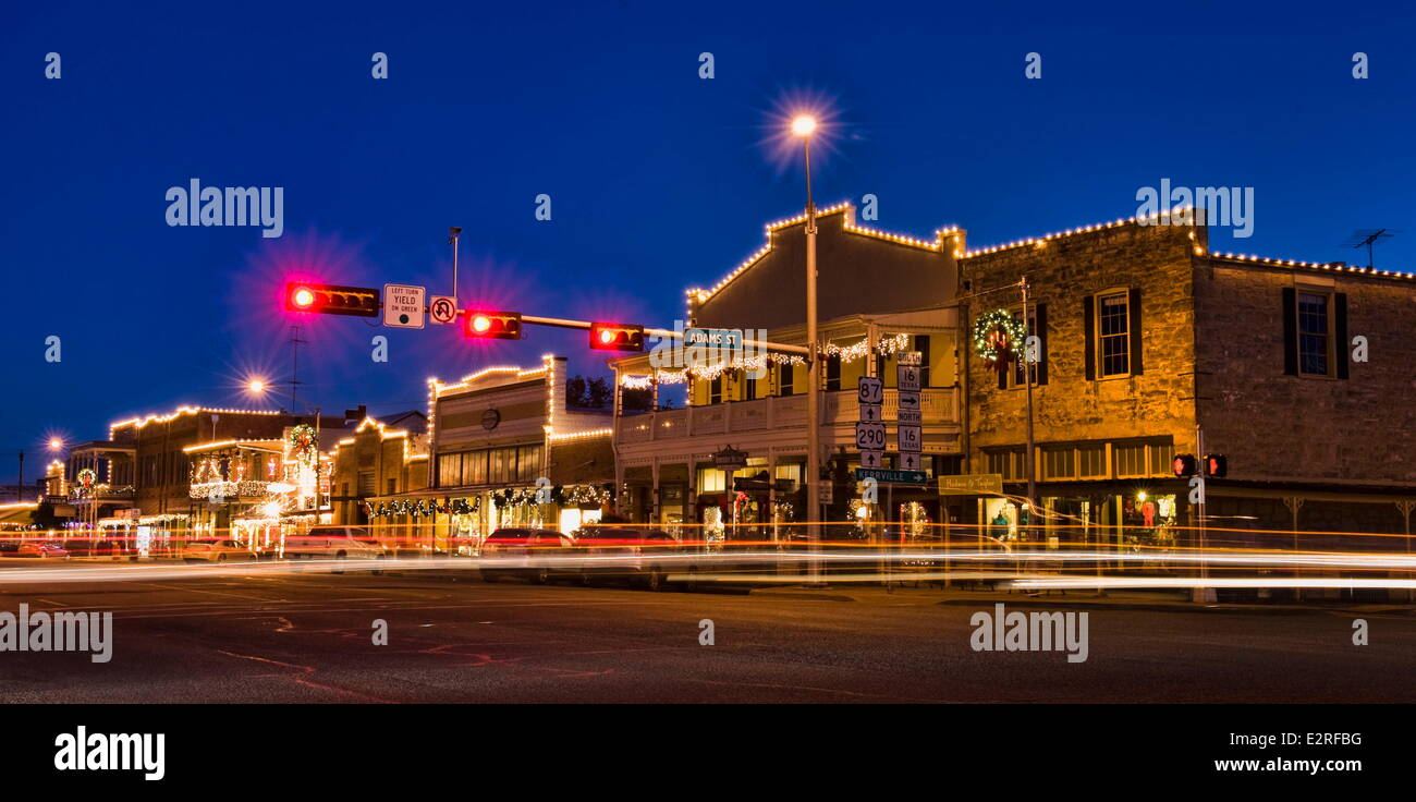 Fredericksburg, Texas, USA. 10th Dec, 2013. Businesses on W Main ...