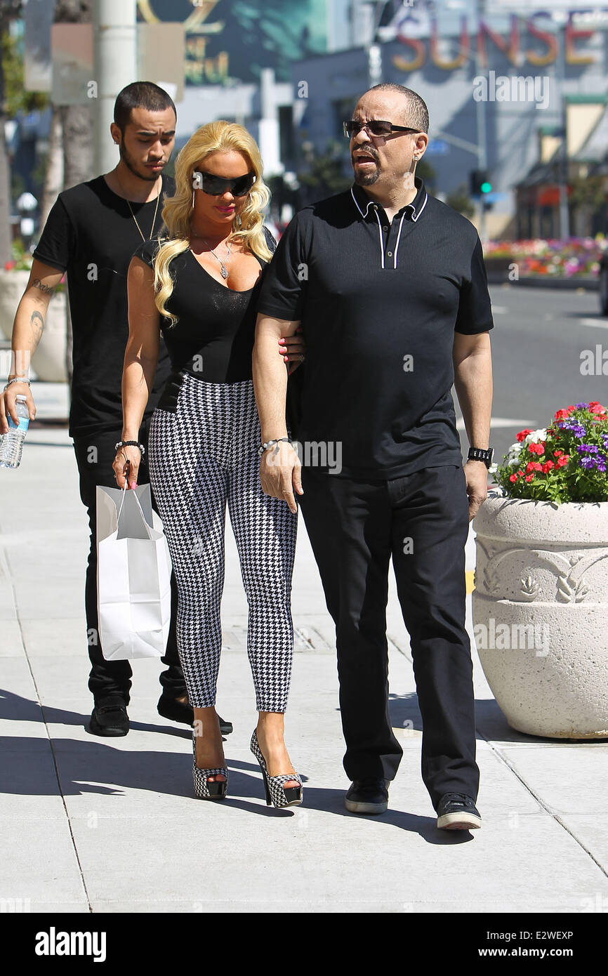 Coco Austin With Husband Ice T Out And About On Sunset