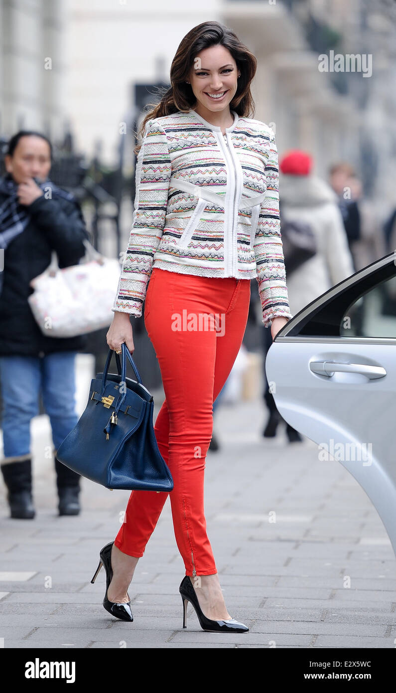 what is the price of a hermes birkin bag - A Stylish Kelly Brook Seen Leaving Her Home Wearing A Patterned ...