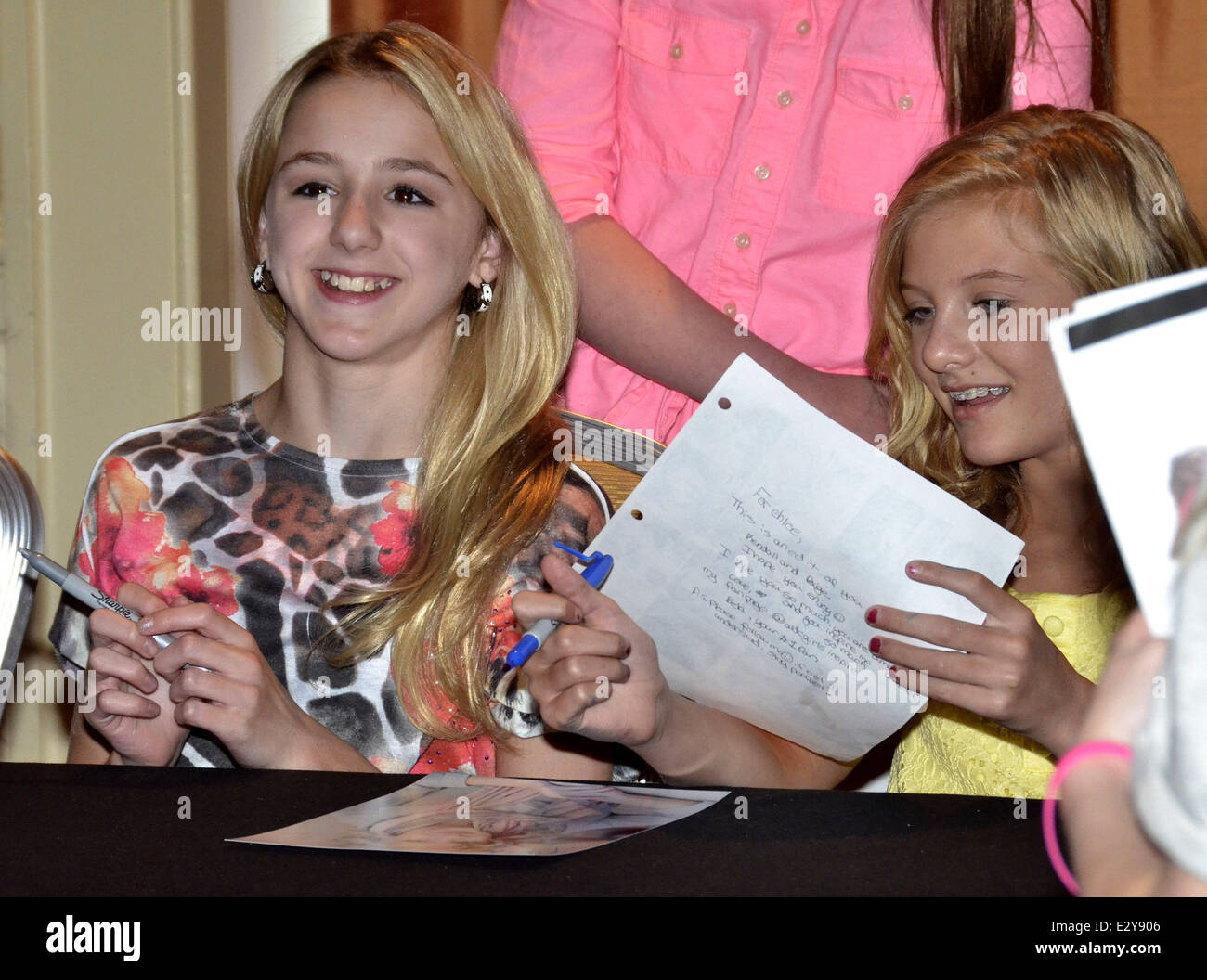Cast members of the reality show dance moms attend a meet and cast members of the reality show dance moms attend a meet and greet at marriott downtown featuring chloe lukasiakpaige hyland where philadelphia kristyandbryce Choice Image